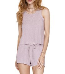 women's heartloom celina rib tank, size x-small - purple