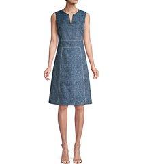 brett sleeveless a-line dress