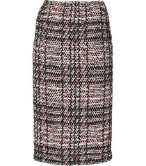 coohem vintage check tweed skirt - multicolour