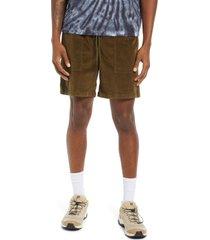 men's bp. men's corduroy elastic waist shorts, size x-large - green