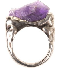 woman ring with amethyst