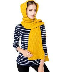 sciarpa con cappuccio lavorato a maglia sciarpa calda invernale delle donne 125cm