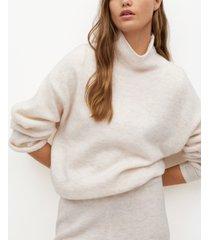 mango women's turtleneck knit sweater