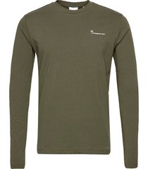 locust transfer ls tee - gots/vegan t-shirts long-sleeved grön knowledge cotton apparel