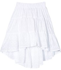 monnalisa white skirt