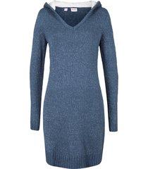 abito in maglia con cappuccio soffice (blu) - john baner jeanswear