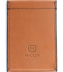 men's m-clip rfid card case - brown