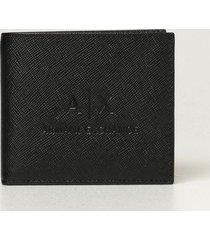 armani collezioni armani exchange wallet armani exchange wallet in saffiano leather