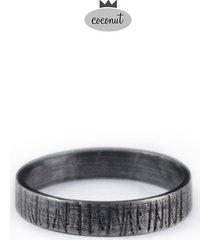 obrączka forest - oksydowane srebro