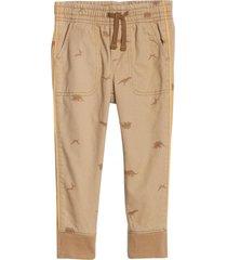 pantalón jogger boy forrado beige gap