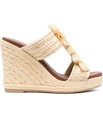 paul warmer 110mm wedge sandals - neutrals
