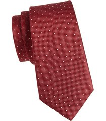 canali men's dot-print silk tie - red