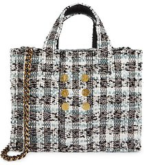 mini diana pixel tweed tote