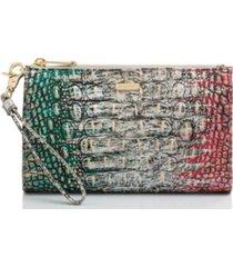 brahmin leather daisy feline ombre melbourne wallet