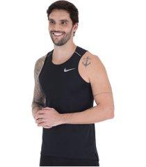 camiseta regata nike dry miler - masculina - preto
