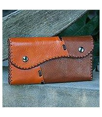 light brown leather wallet, 'cool chiang mai' (thailand)