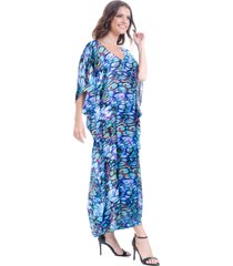 kaftan longo 101 resort wear estampado multicolor