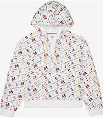 tommy hilfiger women's adaptive tommy jeans alphabet hoodie bright white /multi - xxl