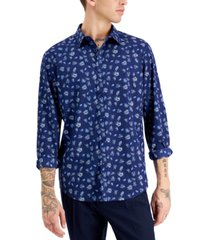 inc international concepts men's palm ditsy print shirt, created for macy's