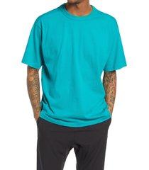 bp. solid crewneck t-shirt, size 4x-large - blue/green