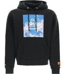 heron preston halo hooded sweatshirt