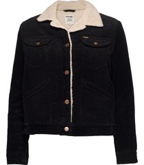 124wj sherpa jacket jeansjacka denimjacka svart wrangler