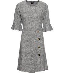 abito di jersey con bottoni (grigio) - bodyflirt