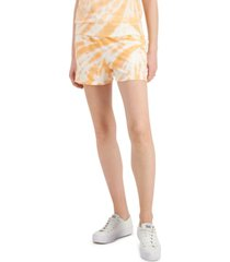 style & co printed track shorts, created for macy's