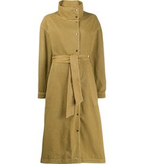 closed trench coat dress - green