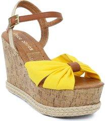 sandalia plataforma para dama amarillo 042pilaramarillo