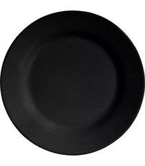 prato para sobremesa scalla standard preto fosco 20,5cm