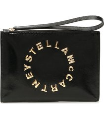 stella mccartney logo zip pouch