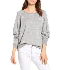 women's rails theo sweater, size x-small - grey
