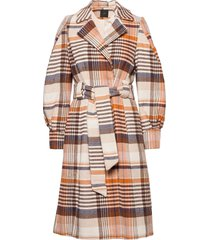 yasbicca wool coat wollen jas lange jas oranje yas