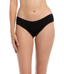 bikini calzón culote con textura negro samia