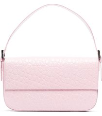 by far manu crocodile-effect shoulder bag - pink