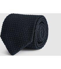 reiss jackson - silk knitted tie in navy, mens