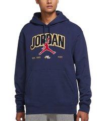 jordan jumpman pullover hoodie, size medium in midnight navy at nordstrom