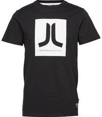 box icon t-shirt t-shirts short-sleeved svart wesc
