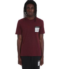 maison margiela t-shirt in bordeaux cotton
