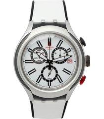 reloj  blanco-negro swatch