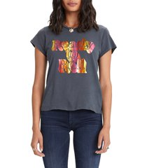 women's mother 'the boxy goodie goodie' cotton graphic tee, size small - black