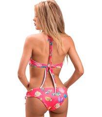 panty tipo bikini santorini essie de la rosa lingerie para mujer - rosa