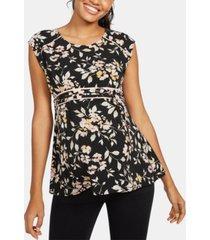 motherhood maternity printed babydoll blouse