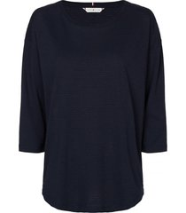 polera estilo blusa mangas 3/4 azul tommy hilfiger