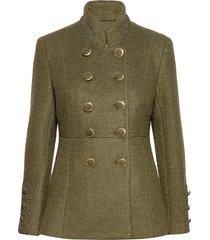 annabellcr short coat ulljacka jacka grön cream