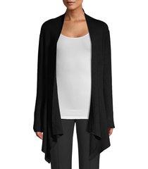 donna karan women's asymmetric open-front cardigan - petrol - size xxs