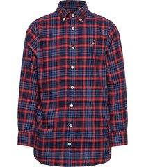 d1. micro tartan shirt overhemd oranje gant