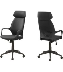 monarch specialties office chair - microfiber, high back executive