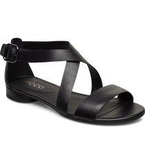 w flat sandal ii shoes summer shoes flat sandals svart ecco
